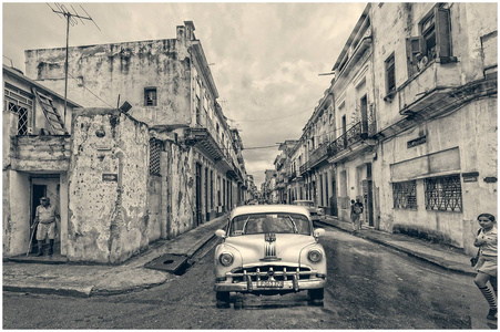 Old Havana Cars and Buildings